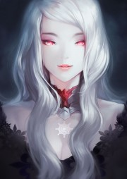 red eyes white hair wallpapers