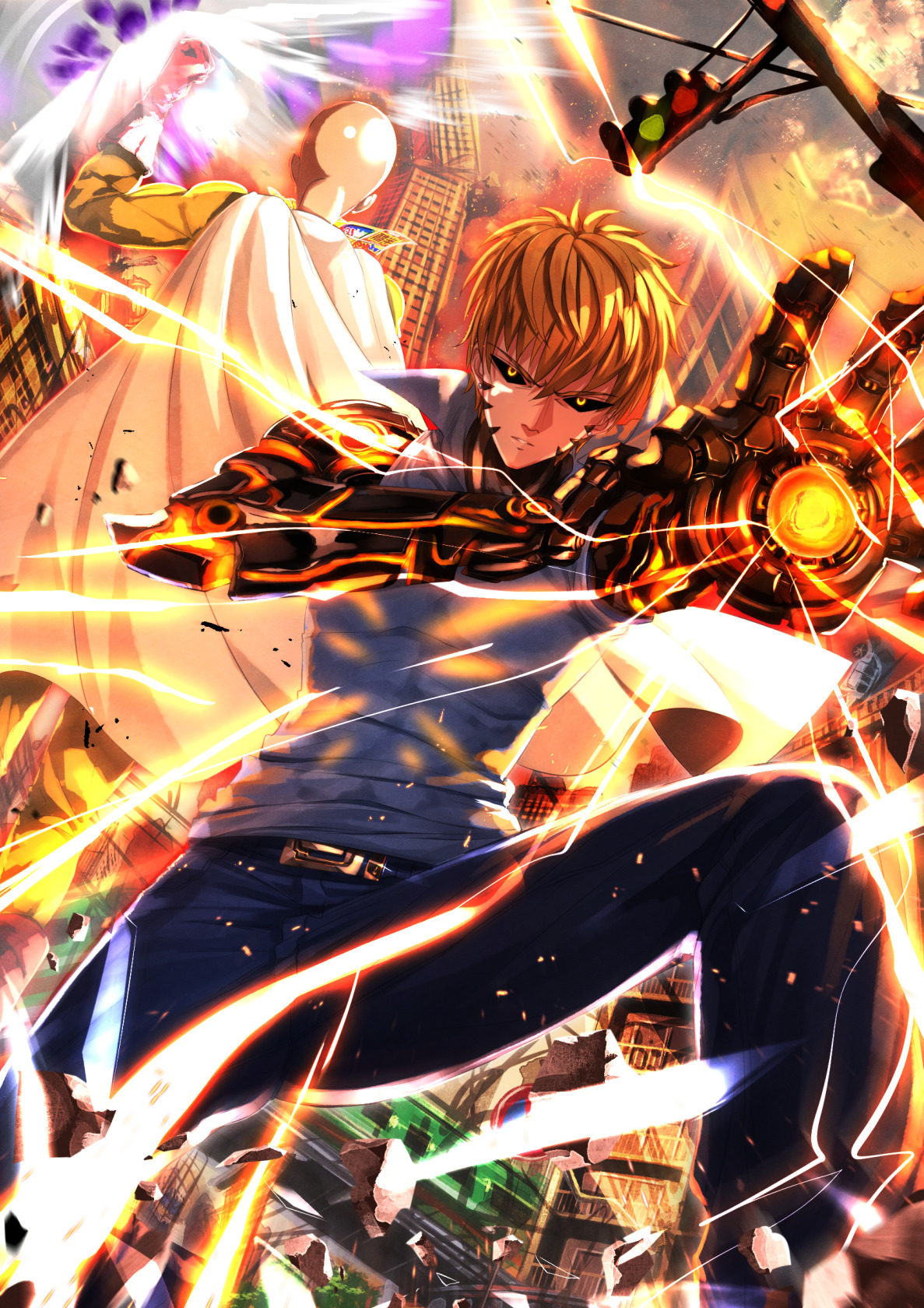 Cool Naruto Wallpapers Hd One Punch Man Genos Wallpapers Hd Desktop And Mobile
