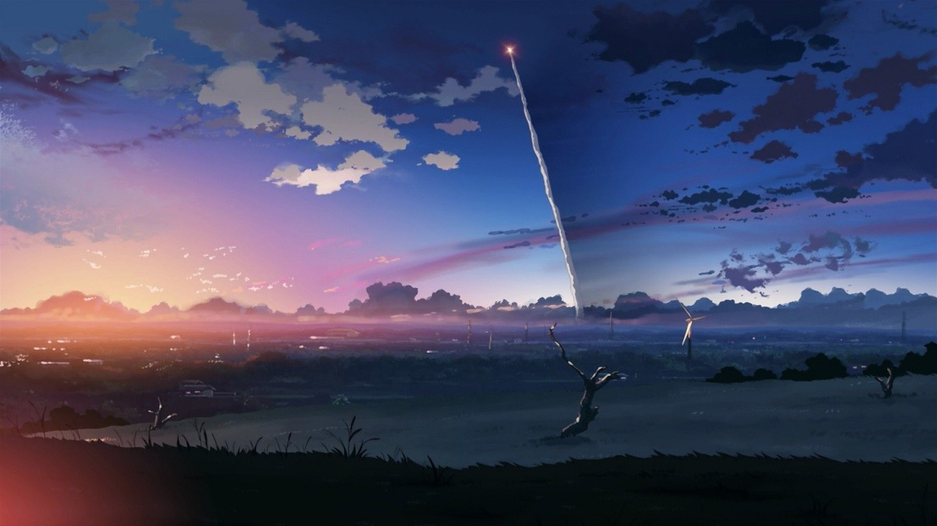 Mixed Girl Quotes Wallpaper Anime Sky 5 Centimeters Per Second Wallpapers Hd
