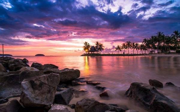 nature landscape sunset tropical