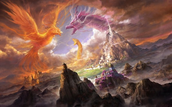 Phoenix vs Dragon Desktop Backgrounds