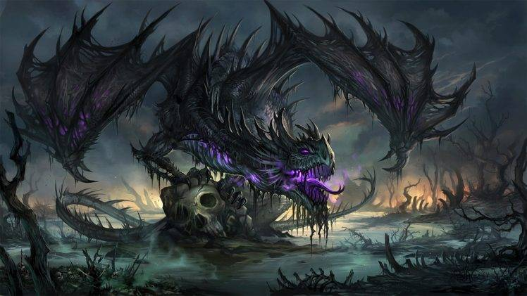 dragon artwork death fantasy