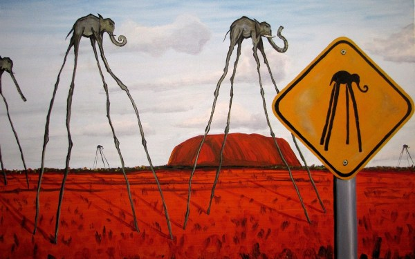 Fantasy Art Surreal Clouds Elephants Signs Hill