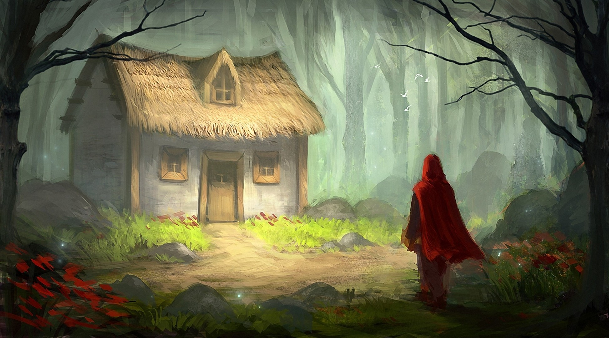 digital Art Fantasy Art Fairy Tale Little Red Riding