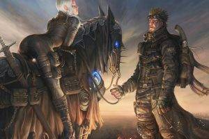 Image result for fantasy world blonde woman man horse