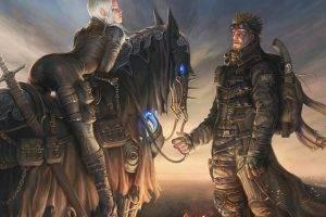 Image result for fantasy world blonde woman man horse