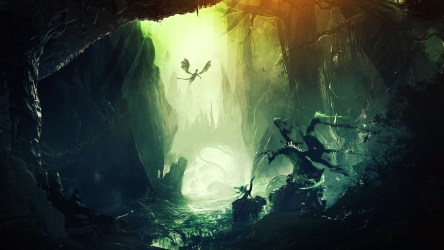 forest digital fantasy dragon artwork mountain backgrounds hd desktop background wallpapers px tags screen wallup