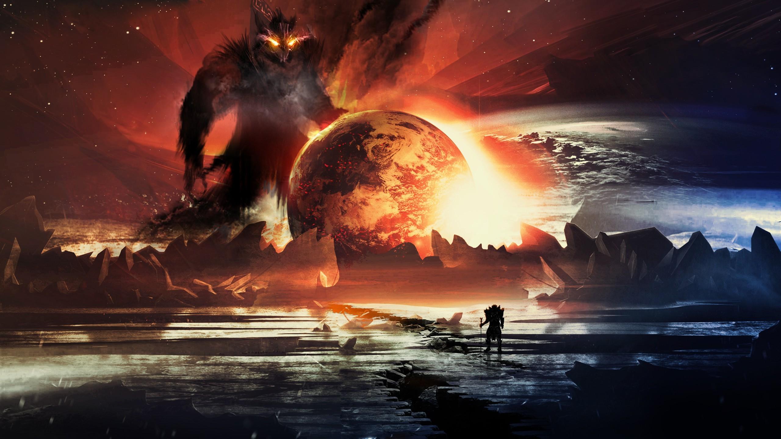 Creature 3d Movie Wallpaper Download Artwork Fantasy Art Digital Art Planet Warrior
