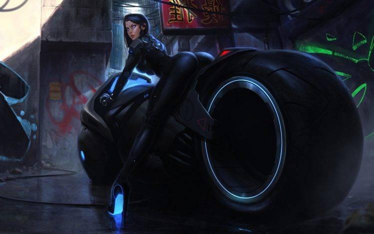 Cybernetic Girls Hd Wallpaper Fantasy Art Illustration Colorful Painting Futuristic