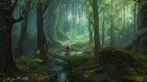 Fantasy Art Forest Trees Wizard Stairs Wallpapers Hd