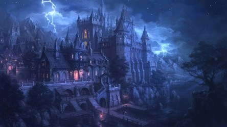 gothic fantasy spooky wallpapers desktop backgrounds artwork castle hd purple goth background christmas mobile px scary screen haunted