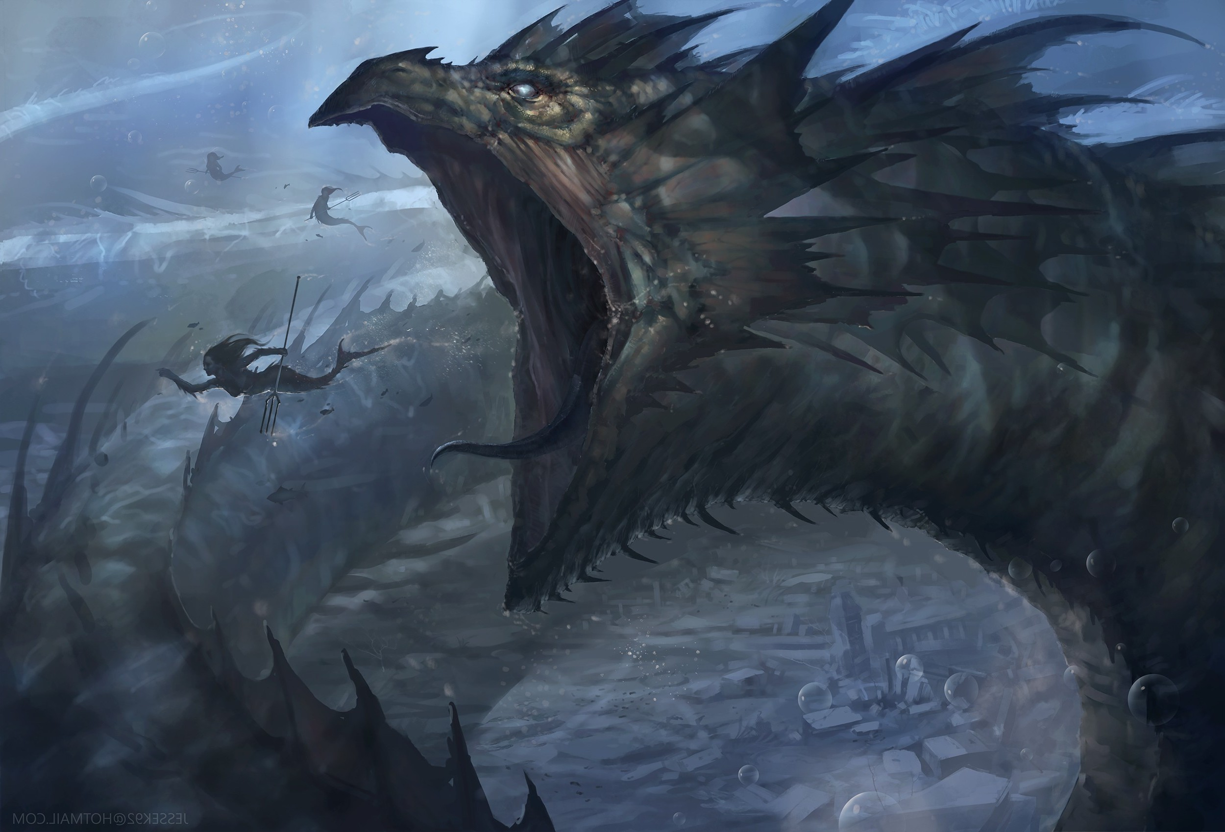 Epic 3d Movie Wallpapers Fantasy Art Leviathan Wallpapers Hd Desktop And Mobile