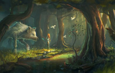 wolf fantasy forest desktop background hd wallpapers backgrounds category