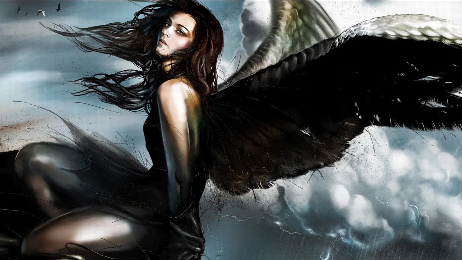 Beautiful Sweet Girl Hd Wallpaper Fantasy Art Artwork Angel Wallpapers Hd Desktop And