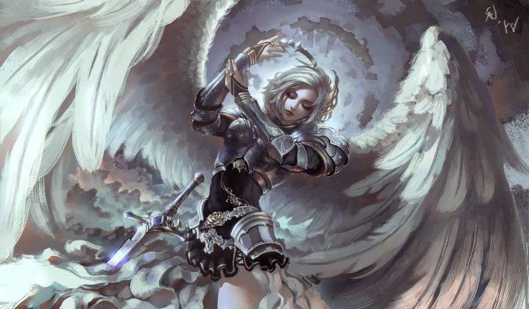 fantasy art angel armor