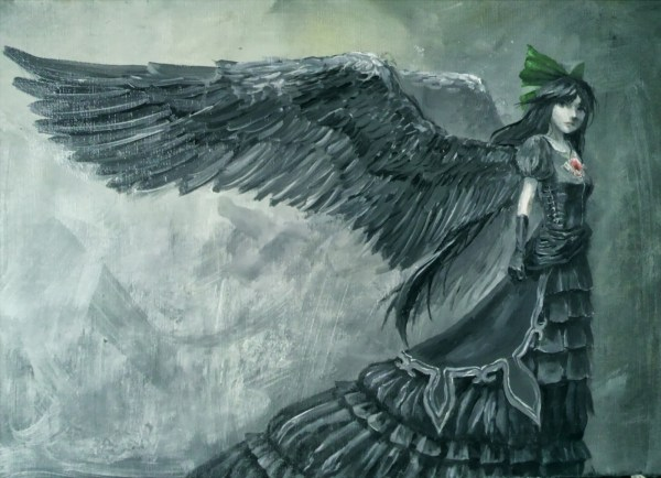 Gothic Angel Wings Art