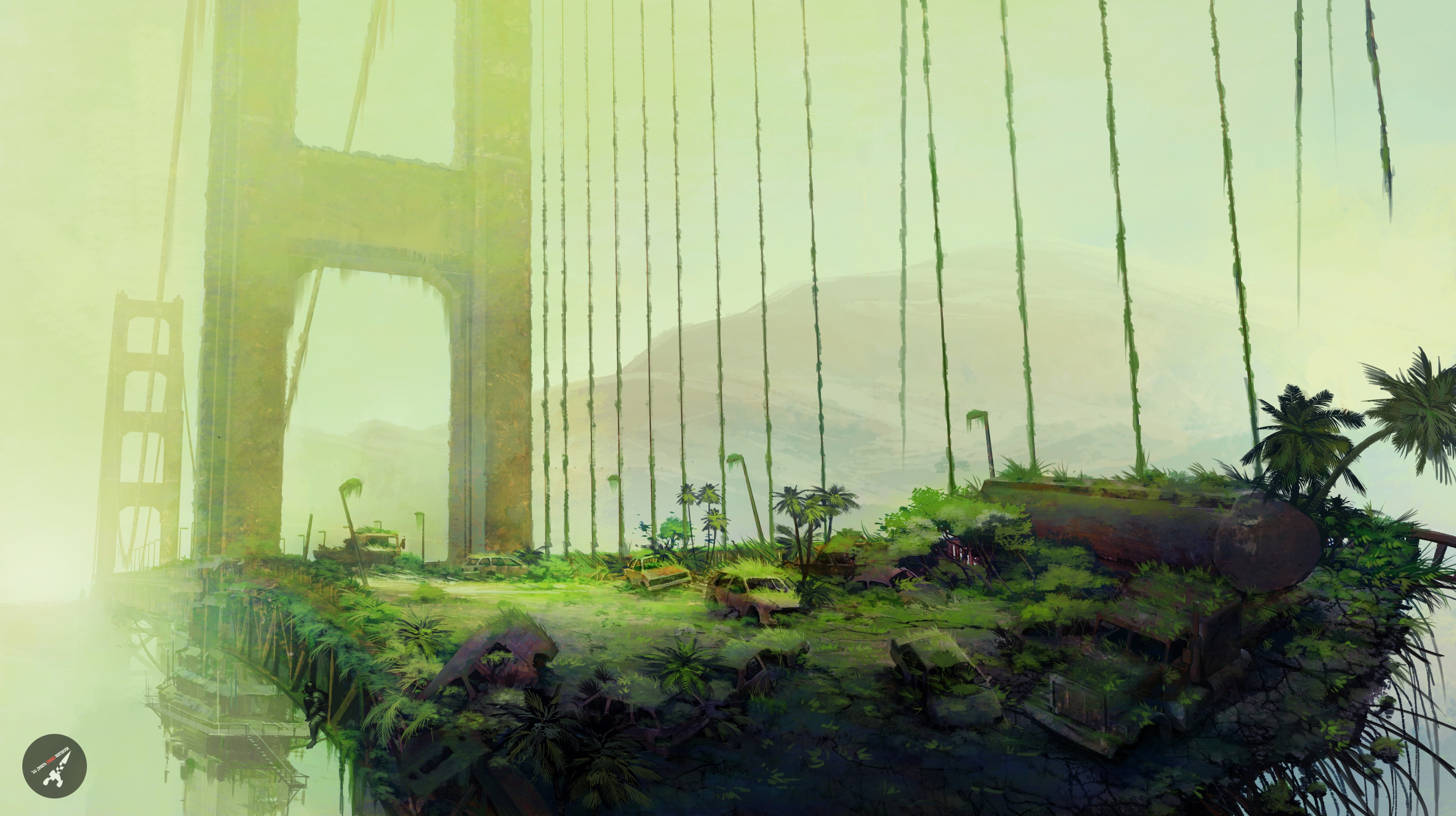 Epic Movie Hd Wallpapers Artwork Apocalyptic Nature Golden Gate Bridge Forest