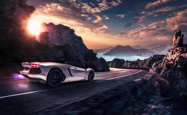 Dope Car Wallpapers Car Artwork Lamborghini Vehicle Road Motion Blur