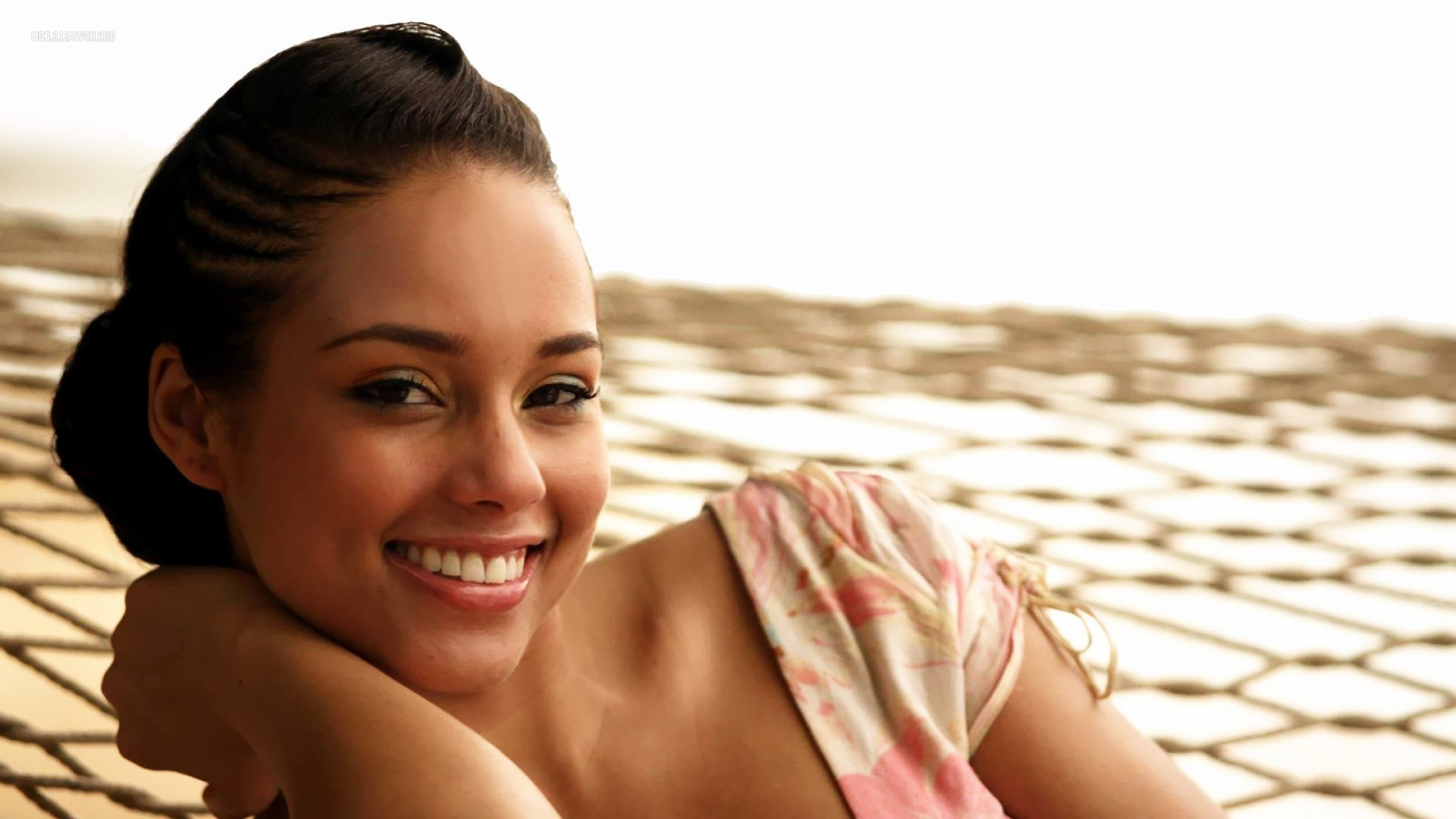women Brunette Face Smiling Alicia Keys Wallpapers HD
