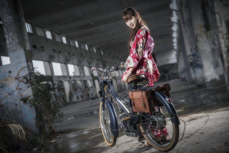 Anime Girl Wallpaper Fixie Asian Women Model Bicycle Wallpapers Hd Desktop And