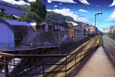 anime wallpapers background desktop hd railway wallup backgrounds mobile category