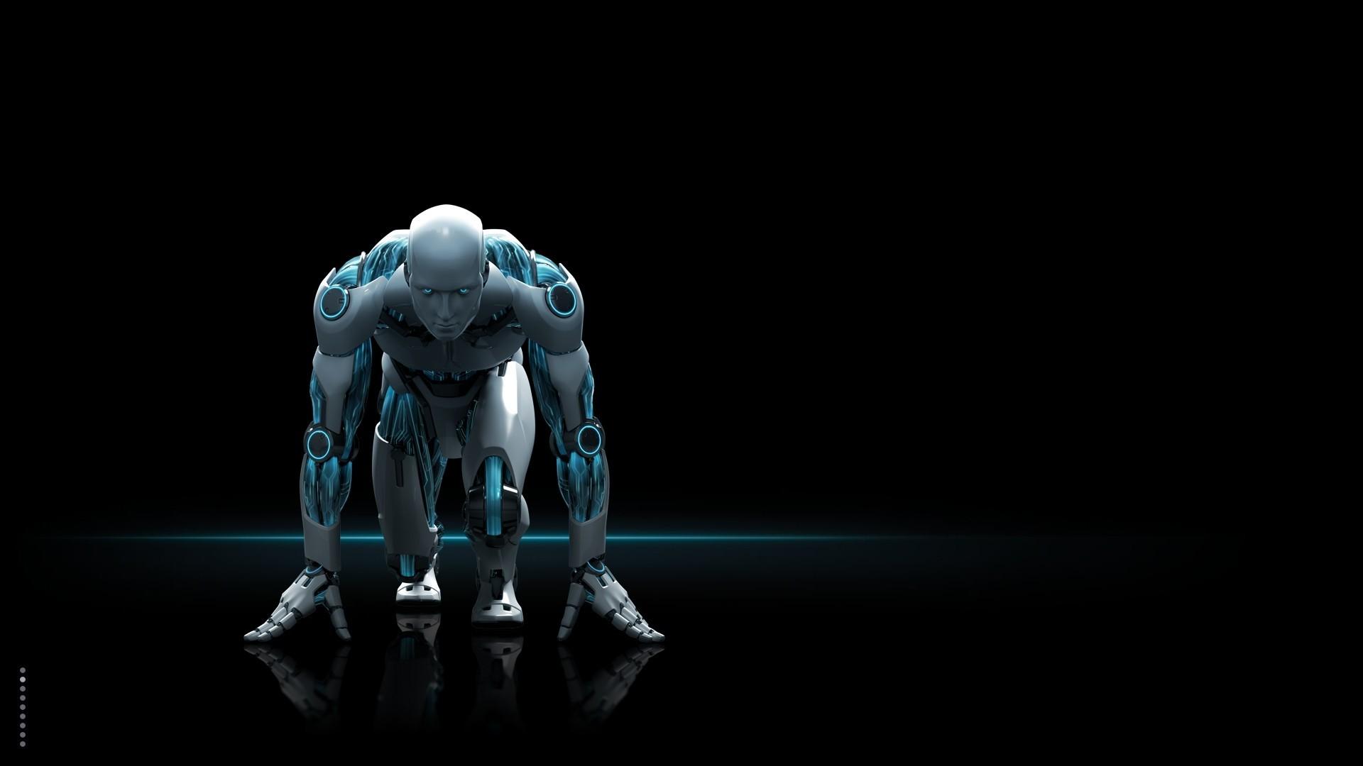 robot, androids, digital art, cgi, science fiction, black