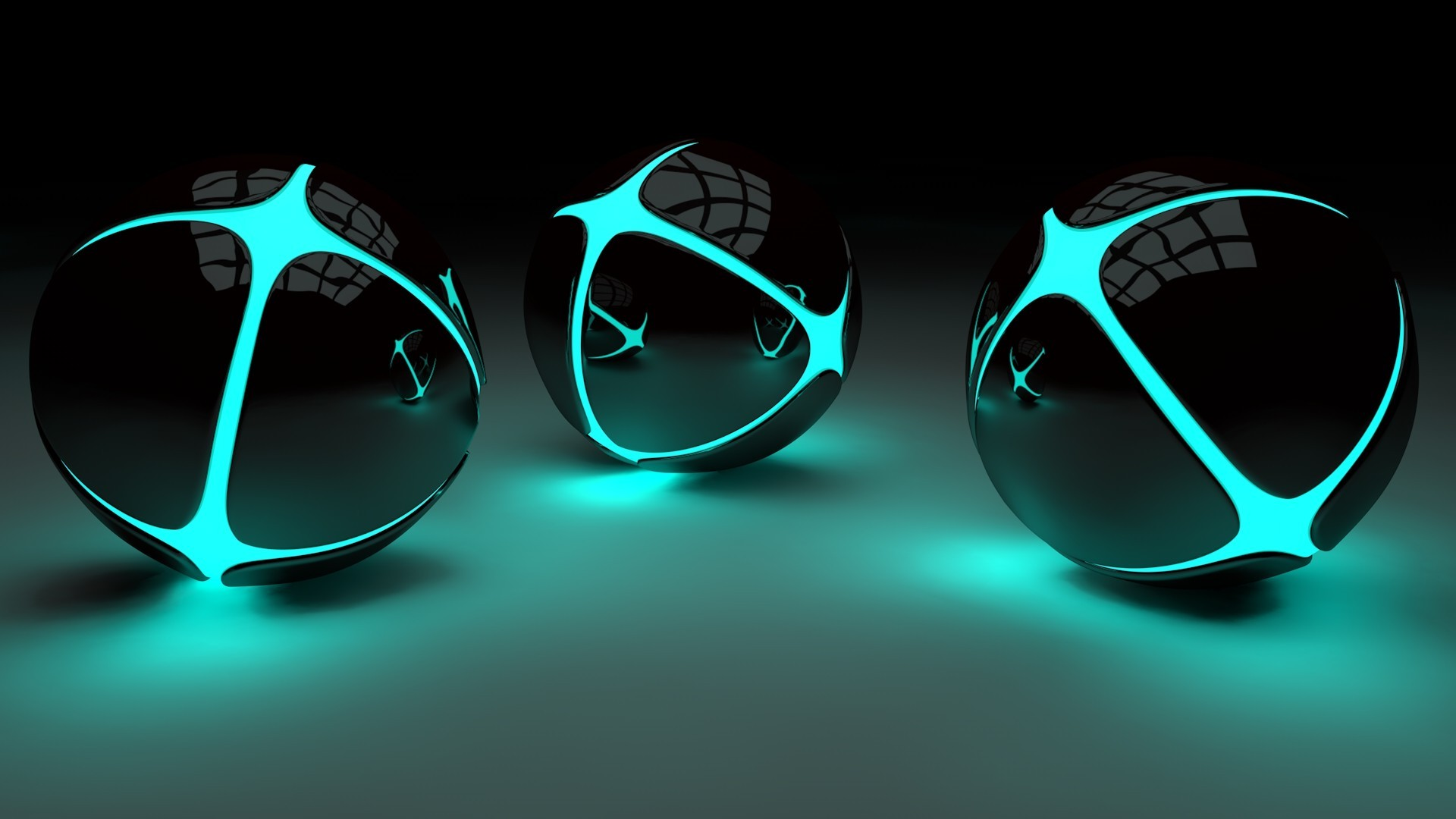 3d, glowing, ball, lights, minimalism wallpapers hd / desktop and