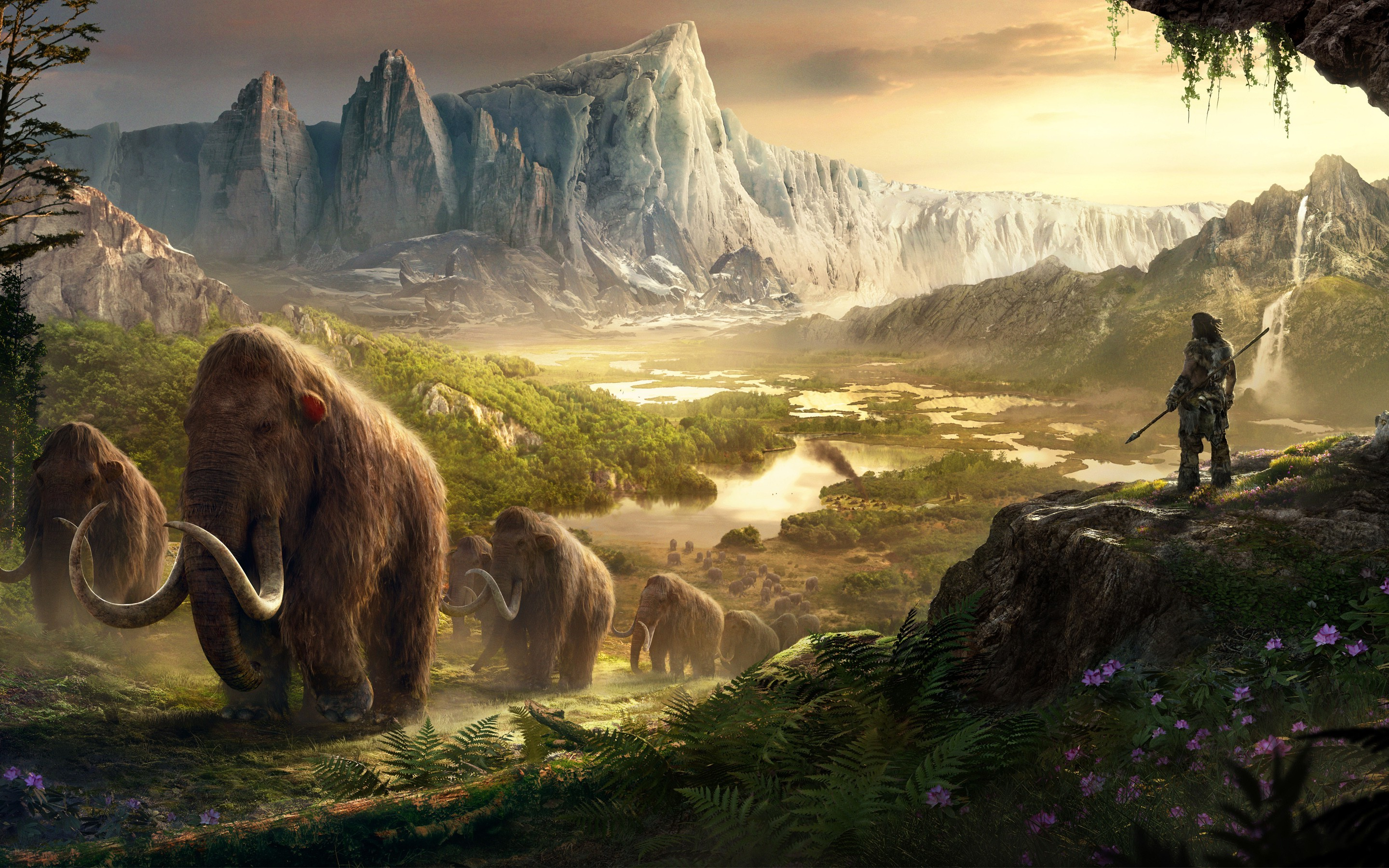 Free Fall Hp Widescreen Wallpapers Video Games Artwork Far Cry Primal Wallpapers Hd
