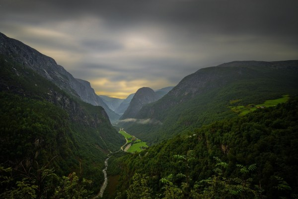 Landscape Nature Mountains River Road Forest Clouds Canyon Summer Valley