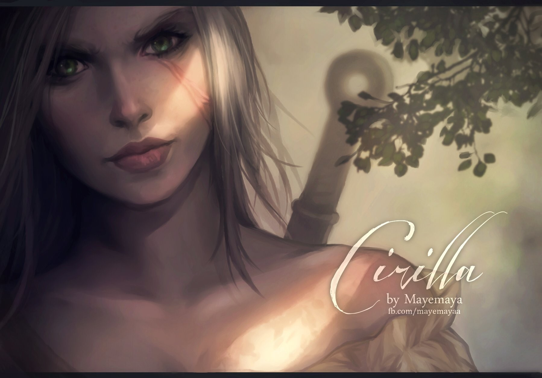 Real Girl Full Hd Wallpaper The Witcher 3 Wild Hunt Ciri White Hair Wallpapers Hd