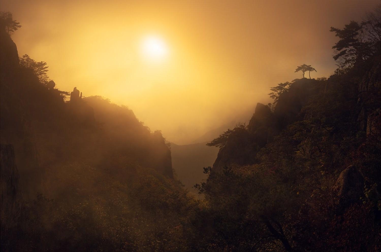 Wallpaper Korea 3d Nature Photography Landscape Morning Sunlight Mist