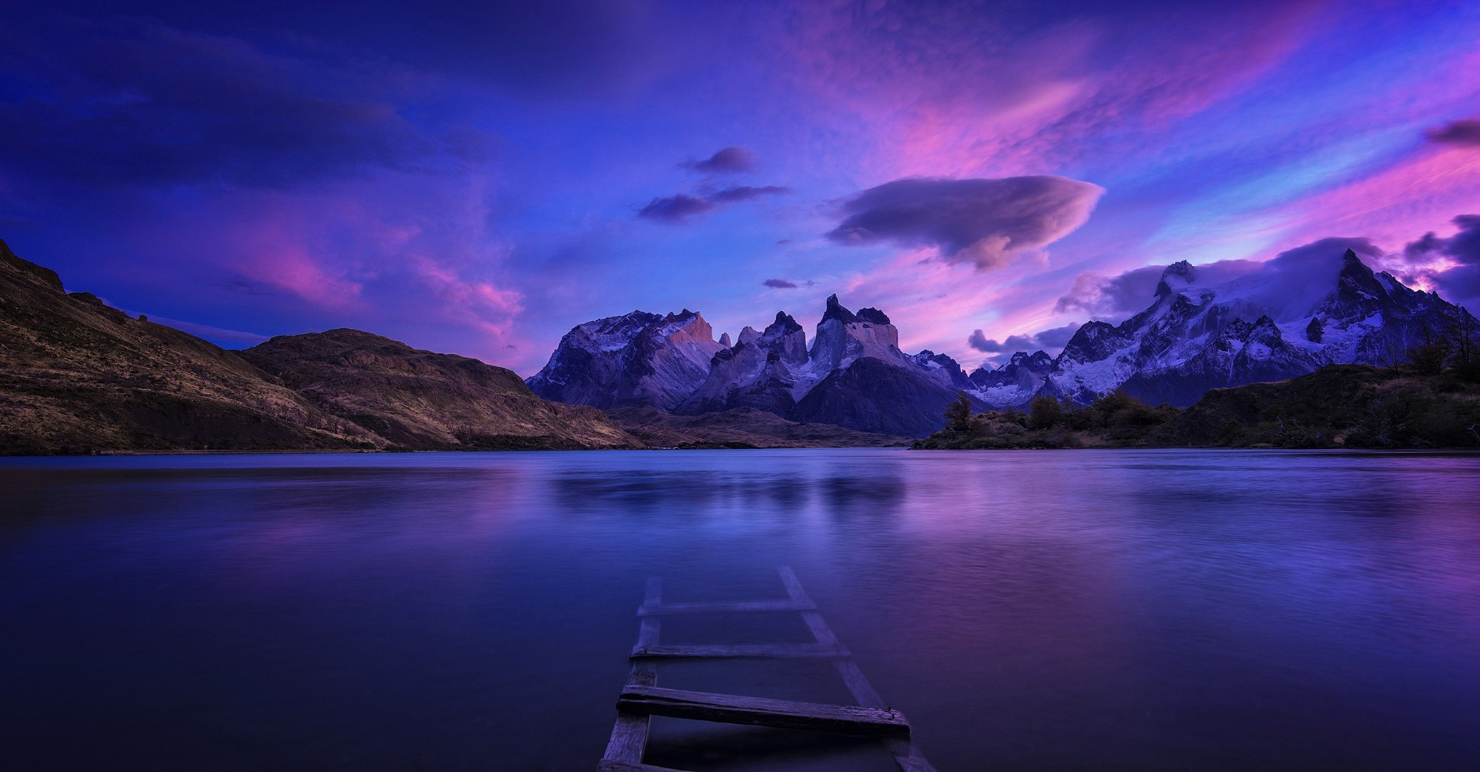 Fall Wallpaper For Large Monitors Patagonia Panorama Nature Water Landscape Chile