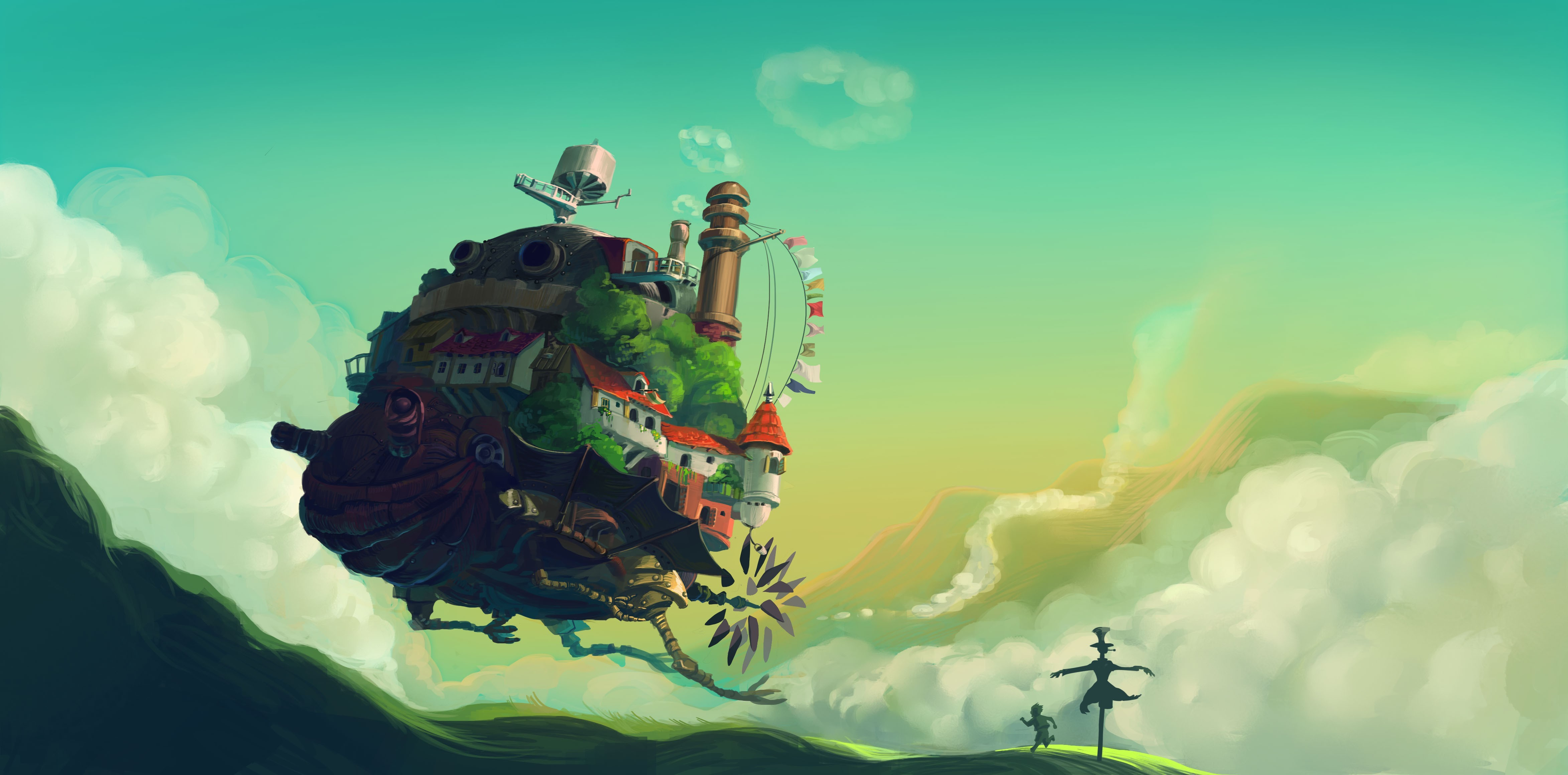 Howls Moving Castle Hd Wallpaper Hayao Miyazaki Howls Moving Castle Wallpapers Hd