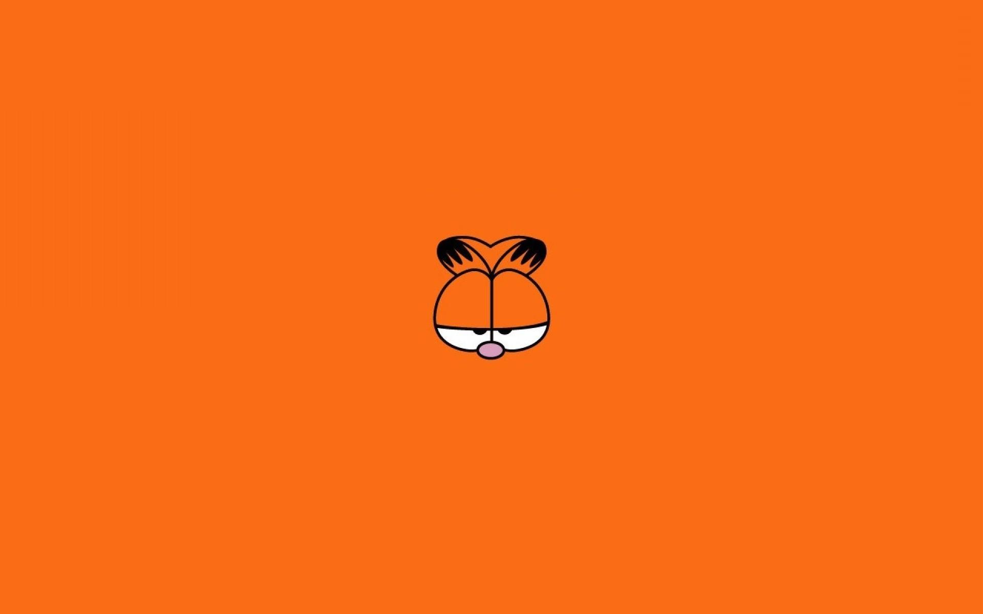 Cute Silly Wallpapers Eyes Garfield Minimalism Cat Orange Wallpapers Hd