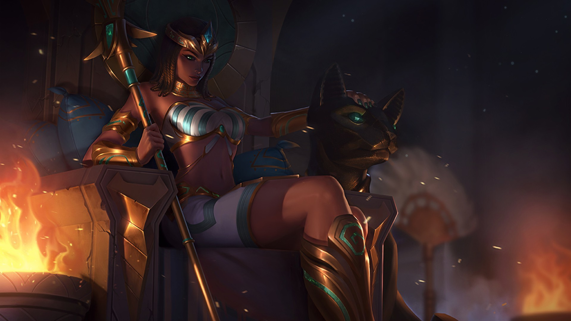 Cool Girls Overwatch Wallpapers Nidalee League Of Legends Pharaoh League Of Legends Cat