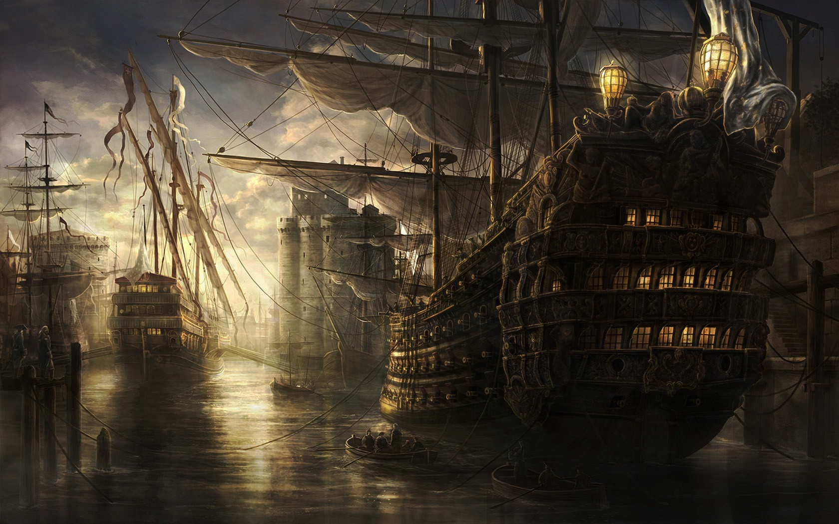 Hd Wallpaper Girls 1920x1200 Sea Old Ship Wallpapers Hd Desktop And Mobile Backgrounds