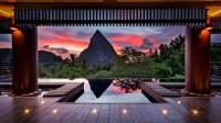 mountain, Trees, Stones, Water, Spa, Wood, Clouds, Red ...