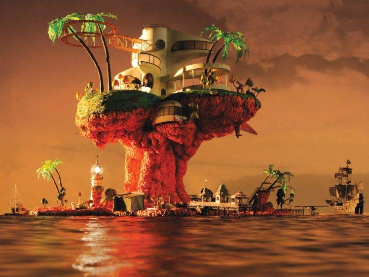 Gorillaz The Fall Wallpaper Gorillaz Plastic Beach Album Covers Jamie Hewlett