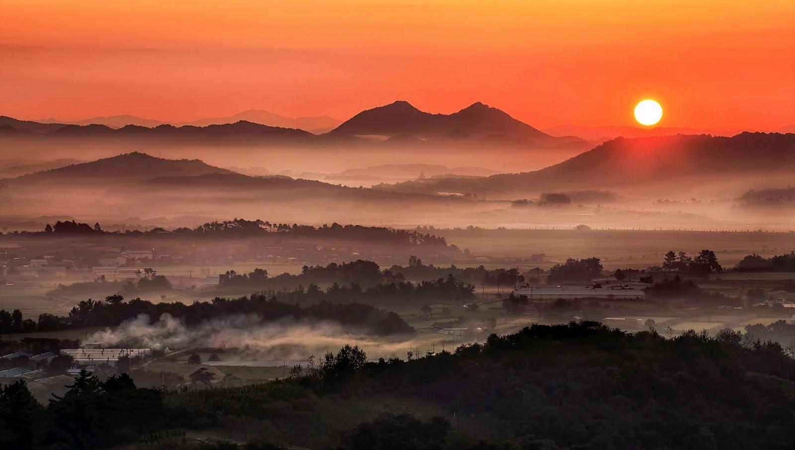 landscape Photography Nature Morning Mist Mountains