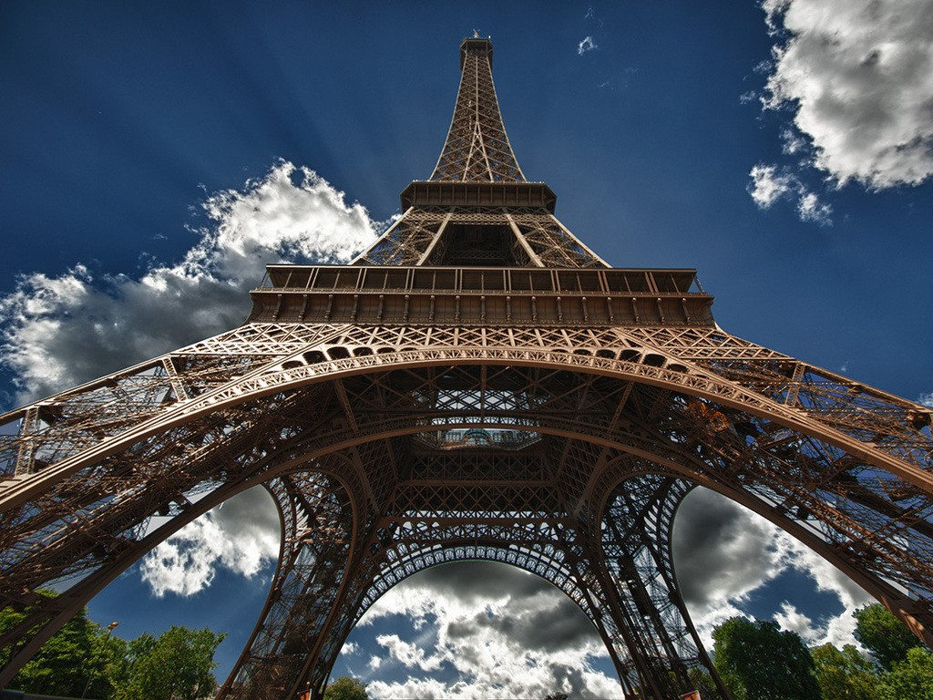 Eiffel Tower Full Hd Wallpaper French Architecture Tower France Eiffel Tower Trees