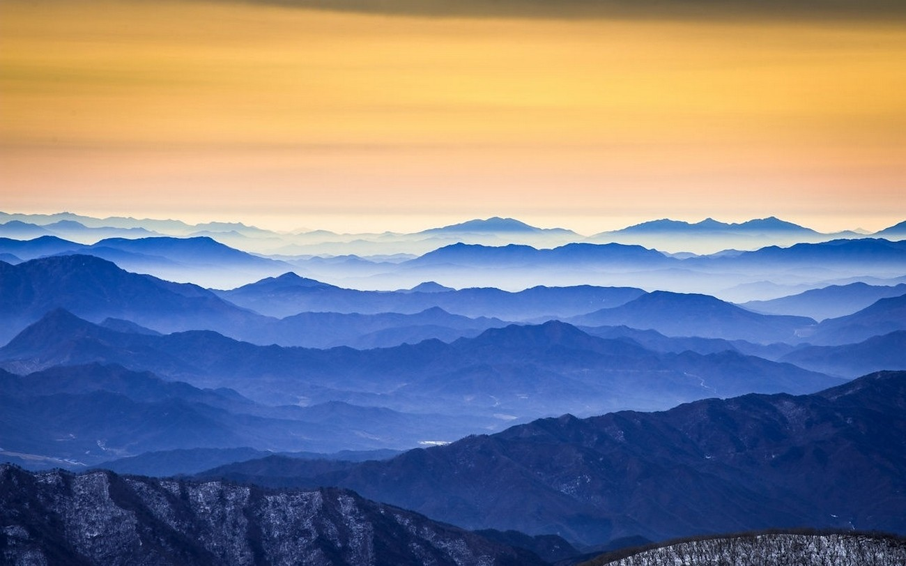 Retro Wallpaper For Girls Nature Photography Landscape Mountains Sunrise Mist