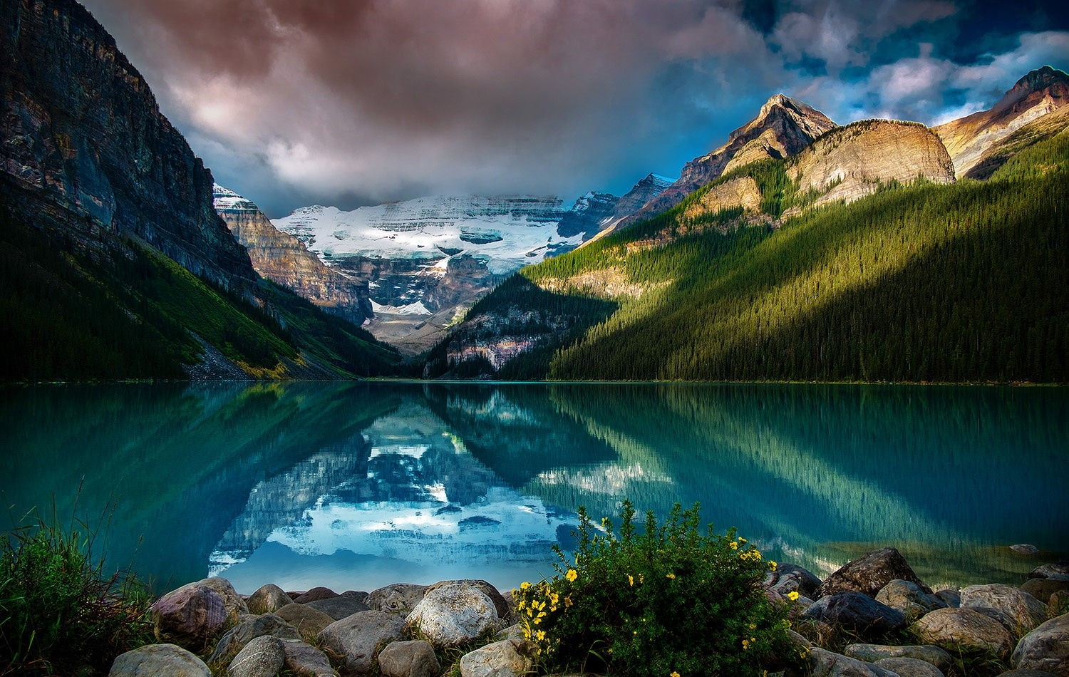 Fall Mountains Hd Wallpaper Pictures Photography Nature Landscape Lake Mountains Forest