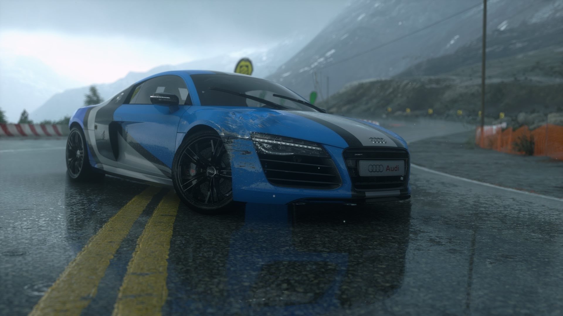 Audi Car Full Hd Wallpapers Audi R8 Screen Shot Road Reflection Forza Motorsport 5
