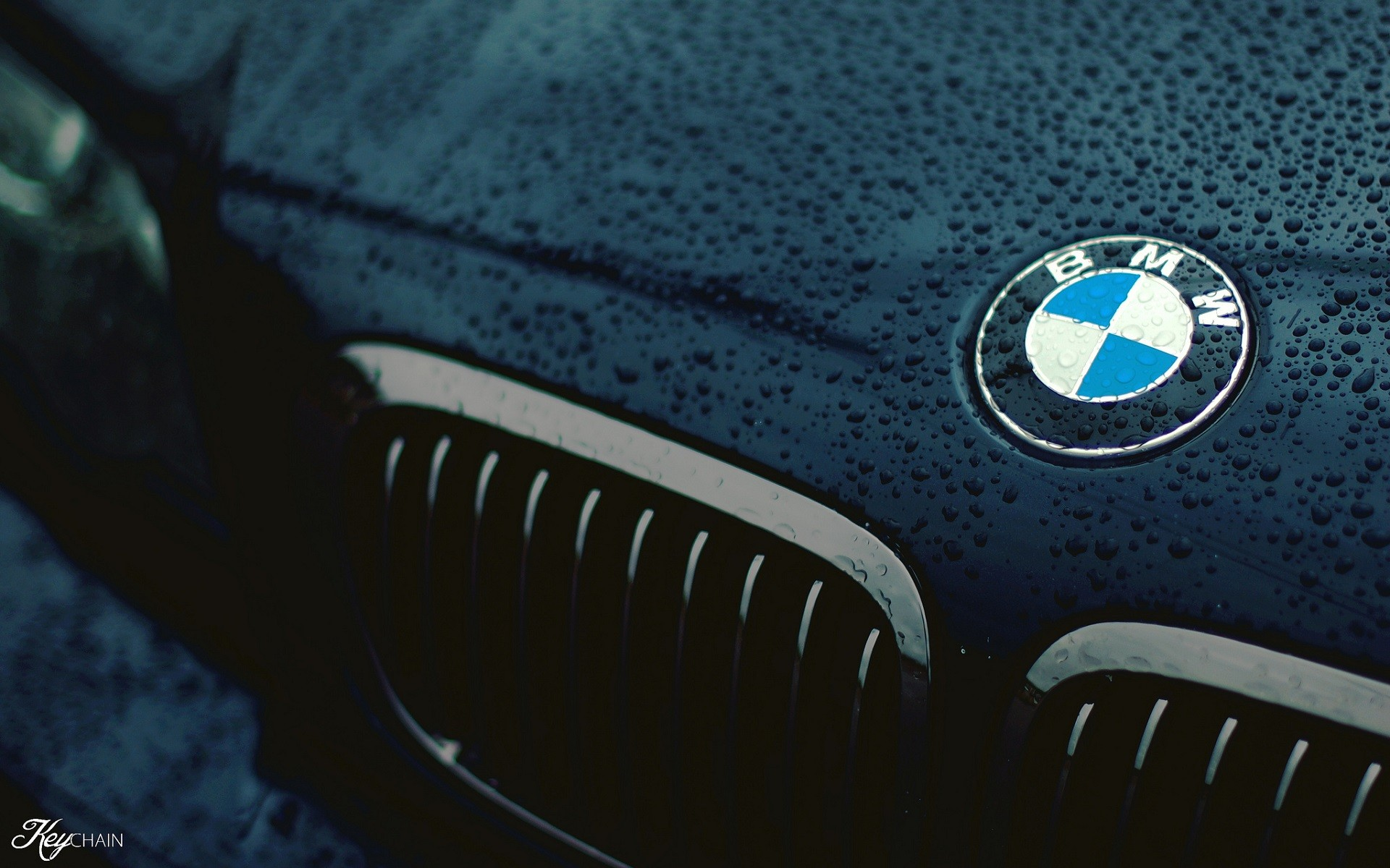 Car Wallpaper Hd 1080p Free Download For Mobile Car Bmw Closeup Logo Black Water Drops Wet