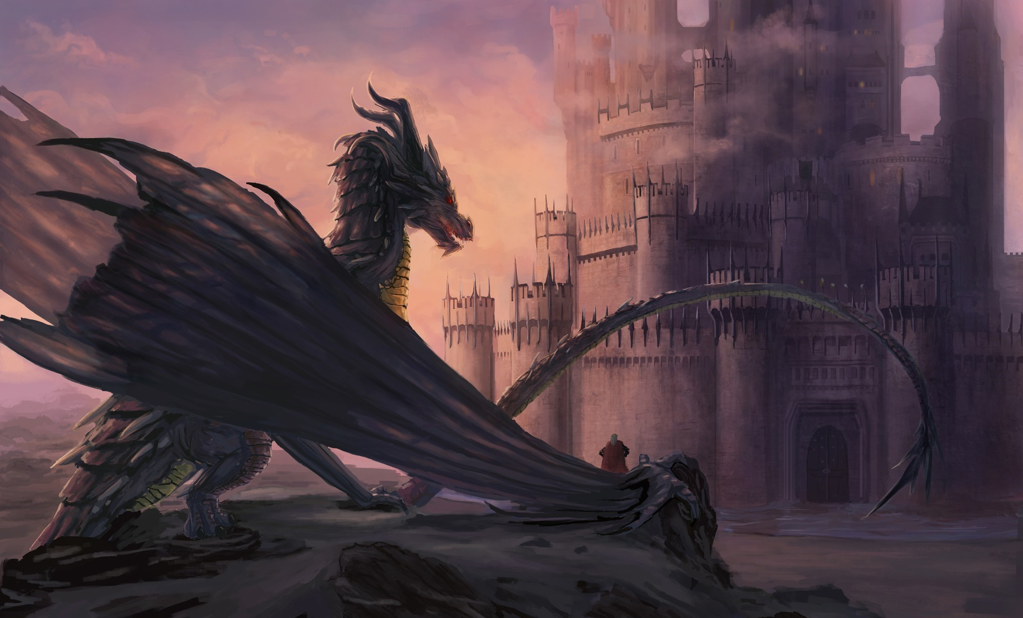Dragon Castle Fantasy Art Artwork Wallpapers Hd