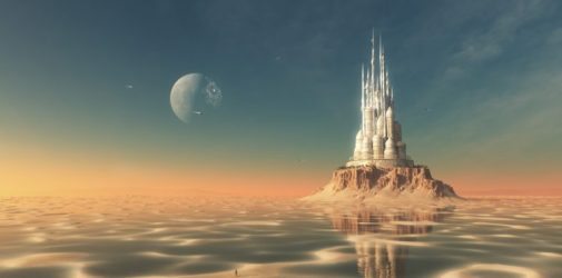 palace futuristic fantasy reflection fiction science artwork hd desktop px tags resolution wallpapers background