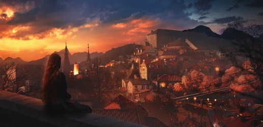 fantasy town Fantasy art Wallpapers HD / Desktop and Mobile Backgrounds