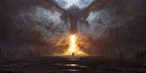 dragon Fire Fantasy art Digital art Dark fantasy Wallpapers HD / Desktop and Mobile Backgrounds