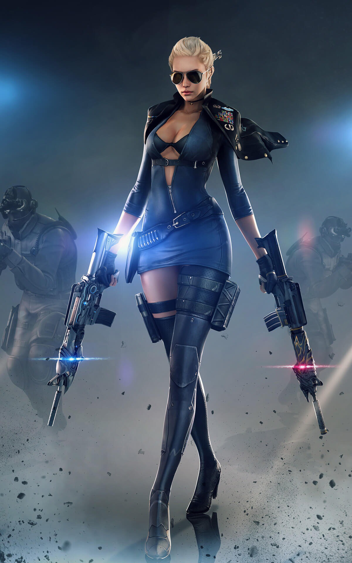 Girl With Guns Hd Wallpapers Women With Sunglasses Women Crossfire Pc Gaming Gun