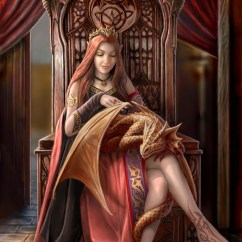 Black Gothic Throne Chair Stool Used Anne Stokes Women Sitting Elves Digital Art Fantasy